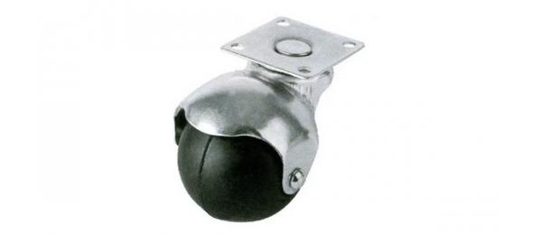 Колесная опора шаровая 50 мм резина