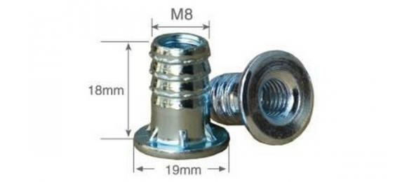 Опора регулируемая м8 с забивной муфтой в комплекте