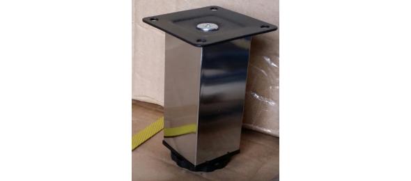 Ножка квадратная регулируемая хром 100 мм