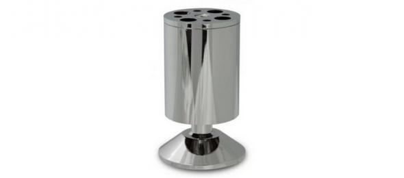 Опора мебельная регулируемая хром 50х100 мм