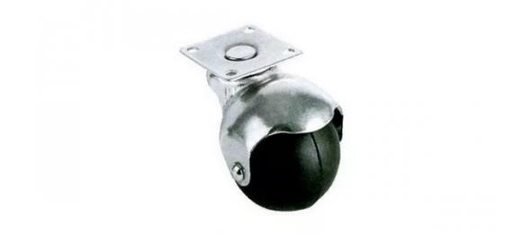 Колесная опора шар площадка д 40 мм резина