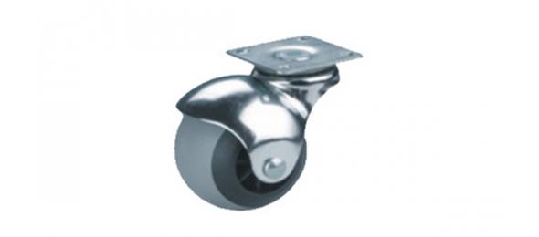 Колесная опора шар d-50 мм серая резина