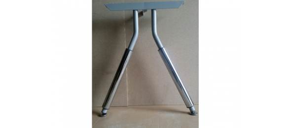 Металлическая опора MF01-3 для офисного стола хром