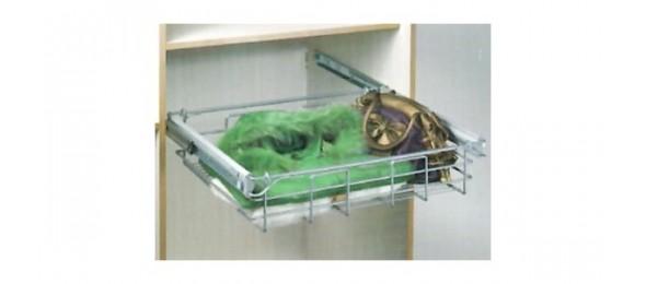 Выдвижные корзины для белья и полки для шкафа