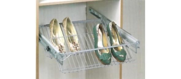 Выдвижная полка для обуви 500 мм в шкаф