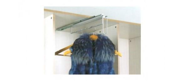 Выдвижные вешалки и галстучницы в шкаф